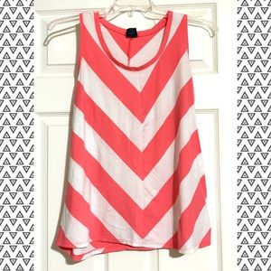 Pink & White Striped Tank